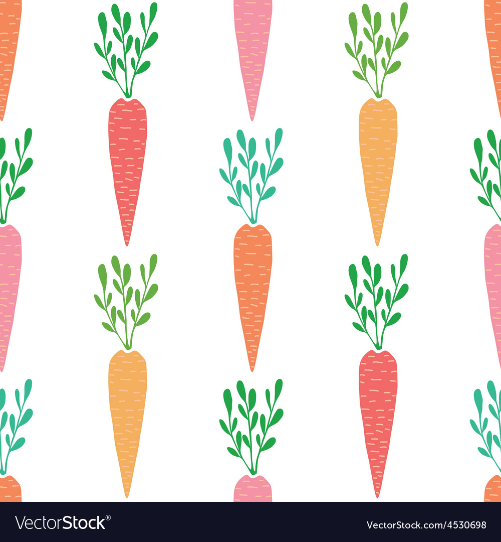 Yummy carrots seamless pattern background vector   Price: 1 Credit (USD $1)