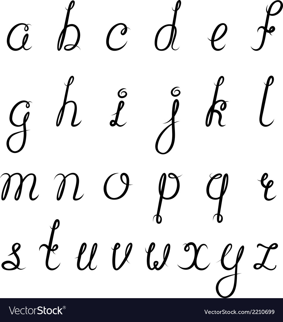 Calligraphy alphabet black vector | Price: 1 Credit (USD $1)