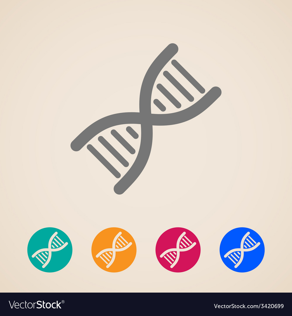 Dna icons vector | Price: 1 Credit (USD $1)