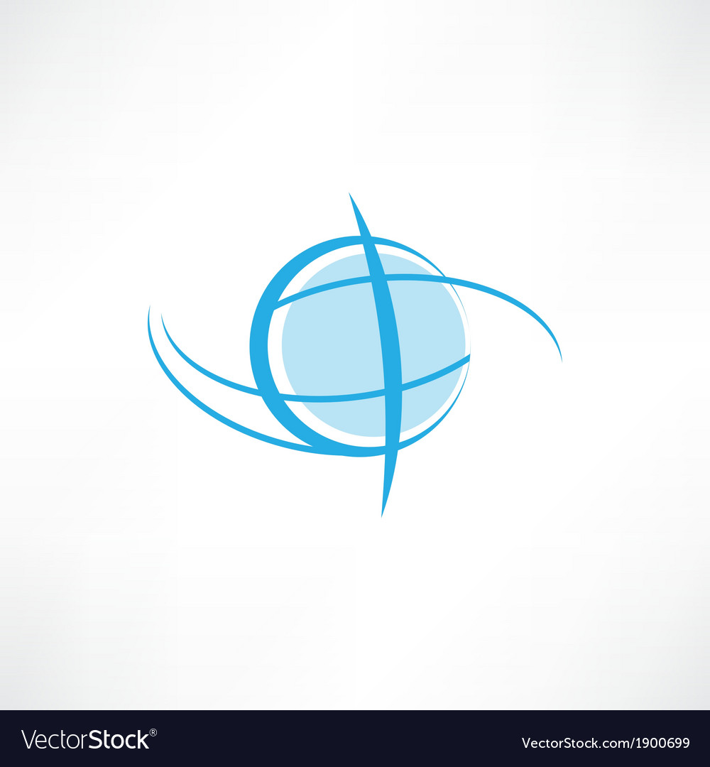Earth symbol vector | Price: 1 Credit (USD $1)