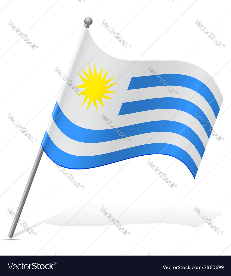 Flag of uruguay vector | Price: 1 Credit (USD $1)