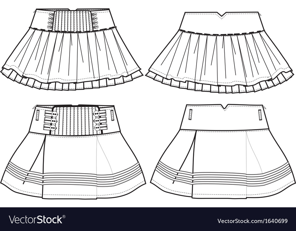 Girls skirt vector | Price: 1 Credit (USD $1)