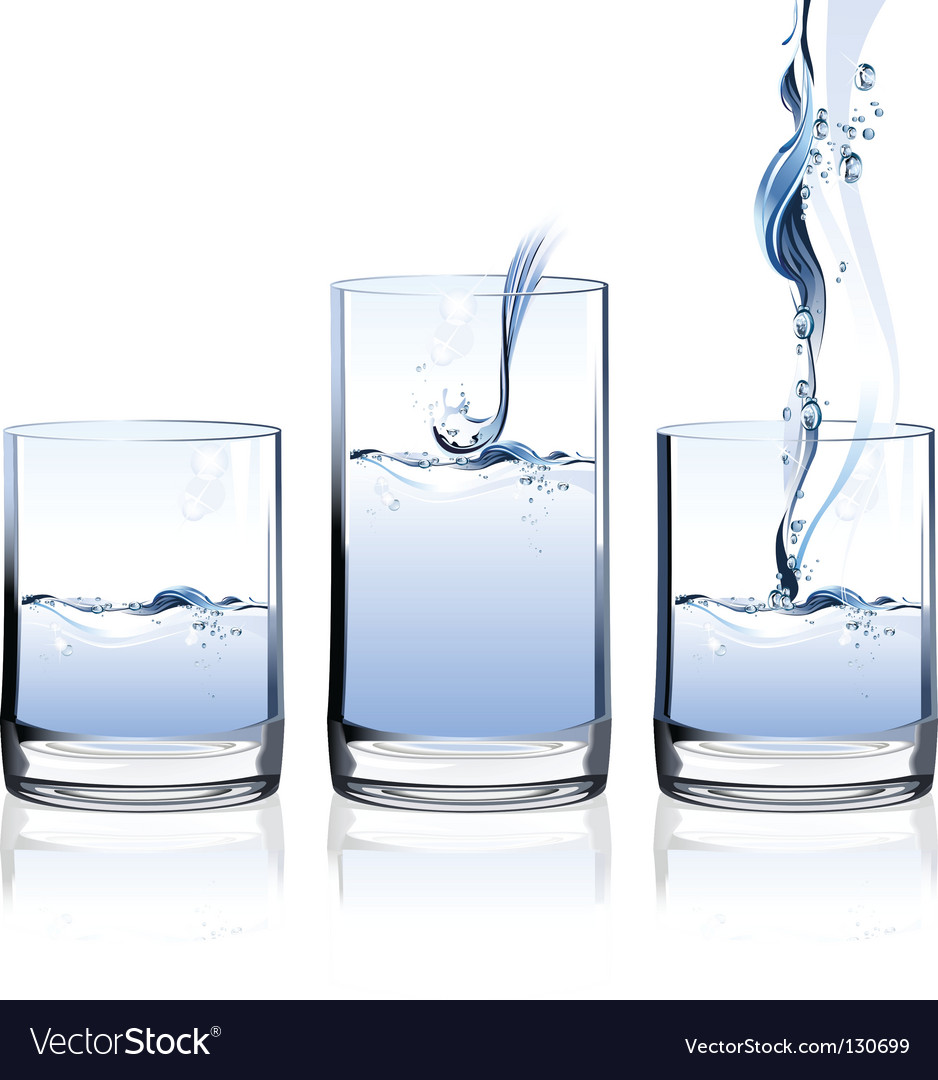 Glass of water vector | Price: 3 Credit (USD $3)