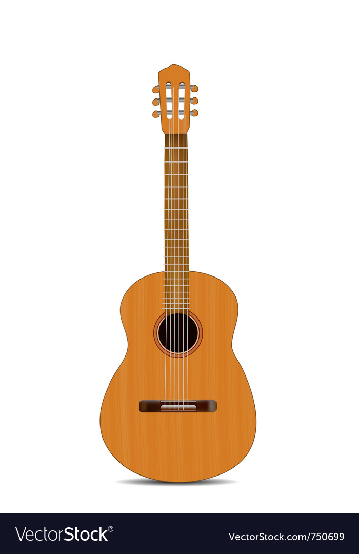 Guitar isolated vector | Price: 1 Credit (USD $1)