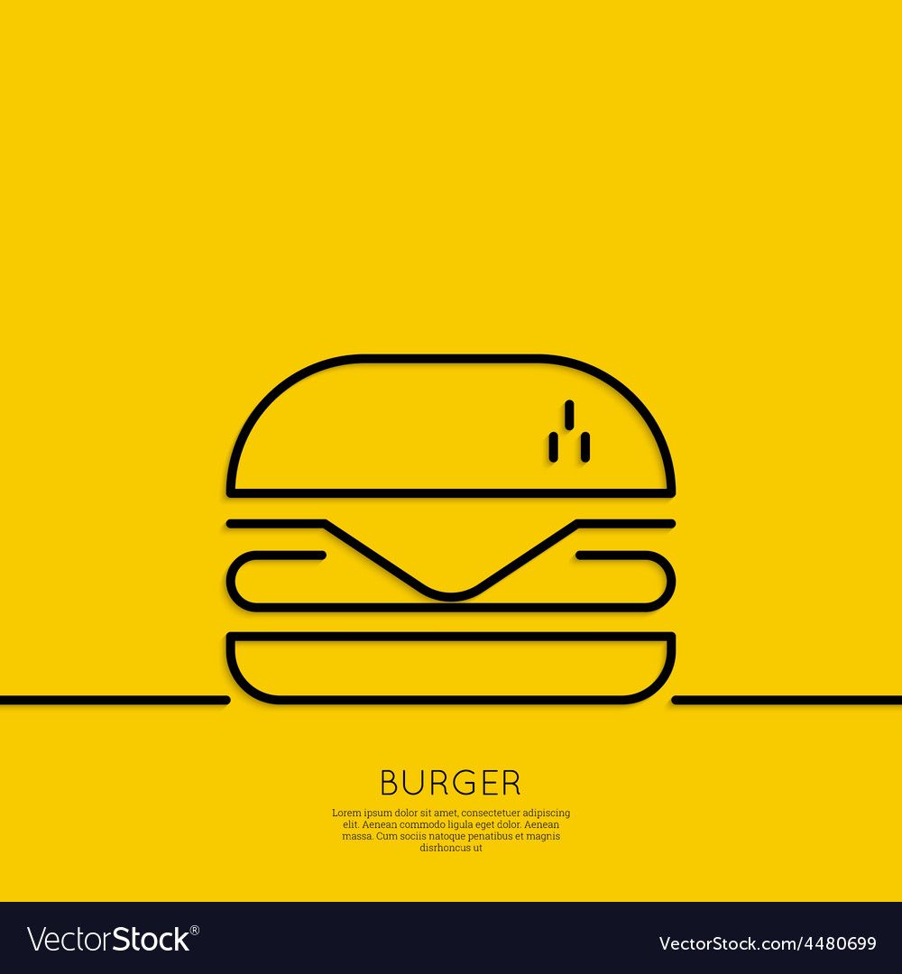 Hamburger icon on a yellow background vector | Price: 1 Credit (USD $1)