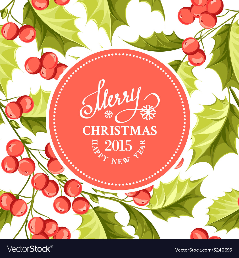 Holiday card vector | Price: 1 Credit (USD $1)