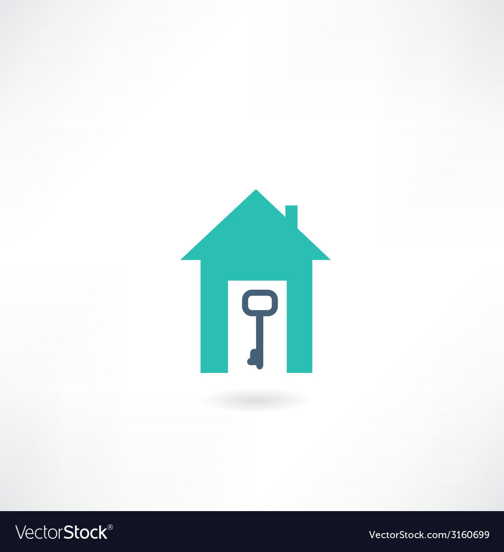 House with a key icon vector | Price: 1 Credit (USD $1)