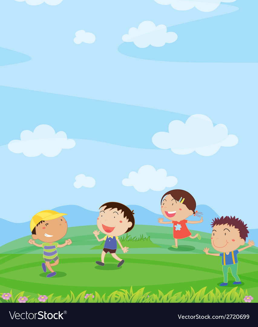 Kids playing vector | Price: 1 Credit (USD $1)