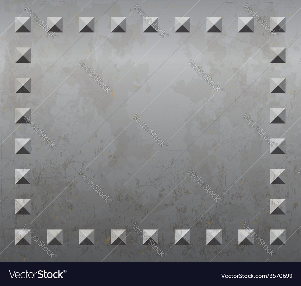 Metal background with rivets vector | Price: 1 Credit (USD $1)