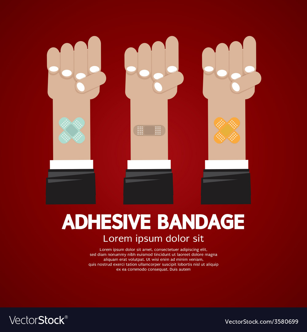 Set of adhesive bandage vector | Price: 1 Credit (USD $1)