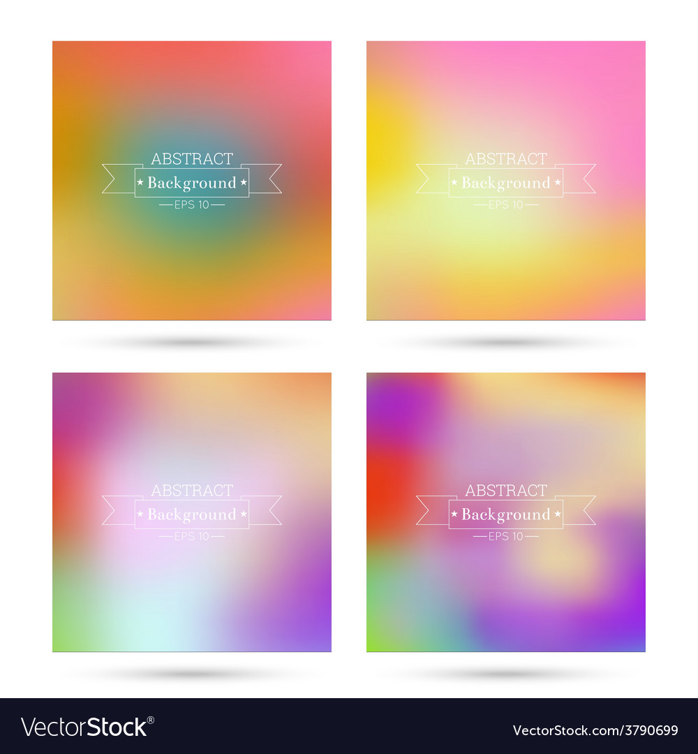 Set of colorful abstract backgrounds vector | Price: 1 Credit (USD $1)