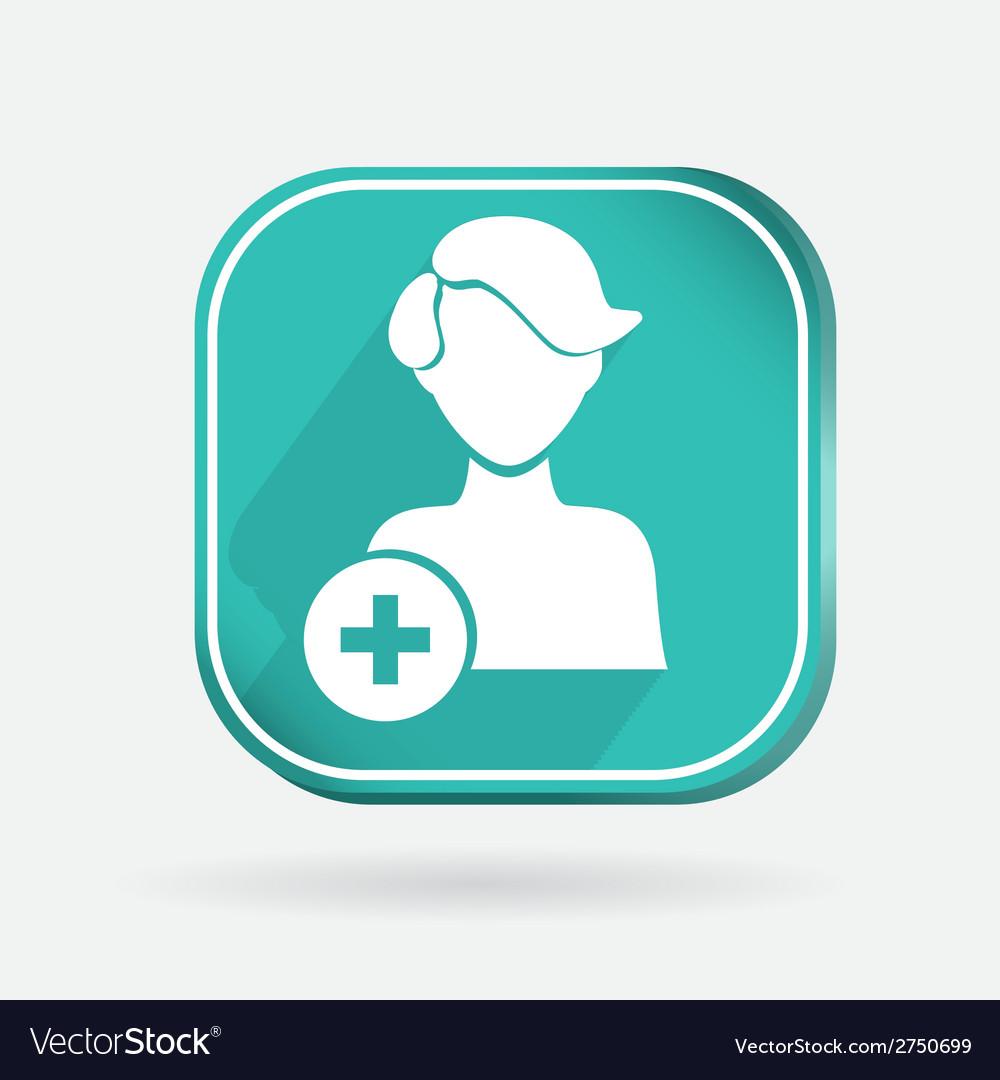 Square icon add friend vector | Price: 1 Credit (USD $1)
