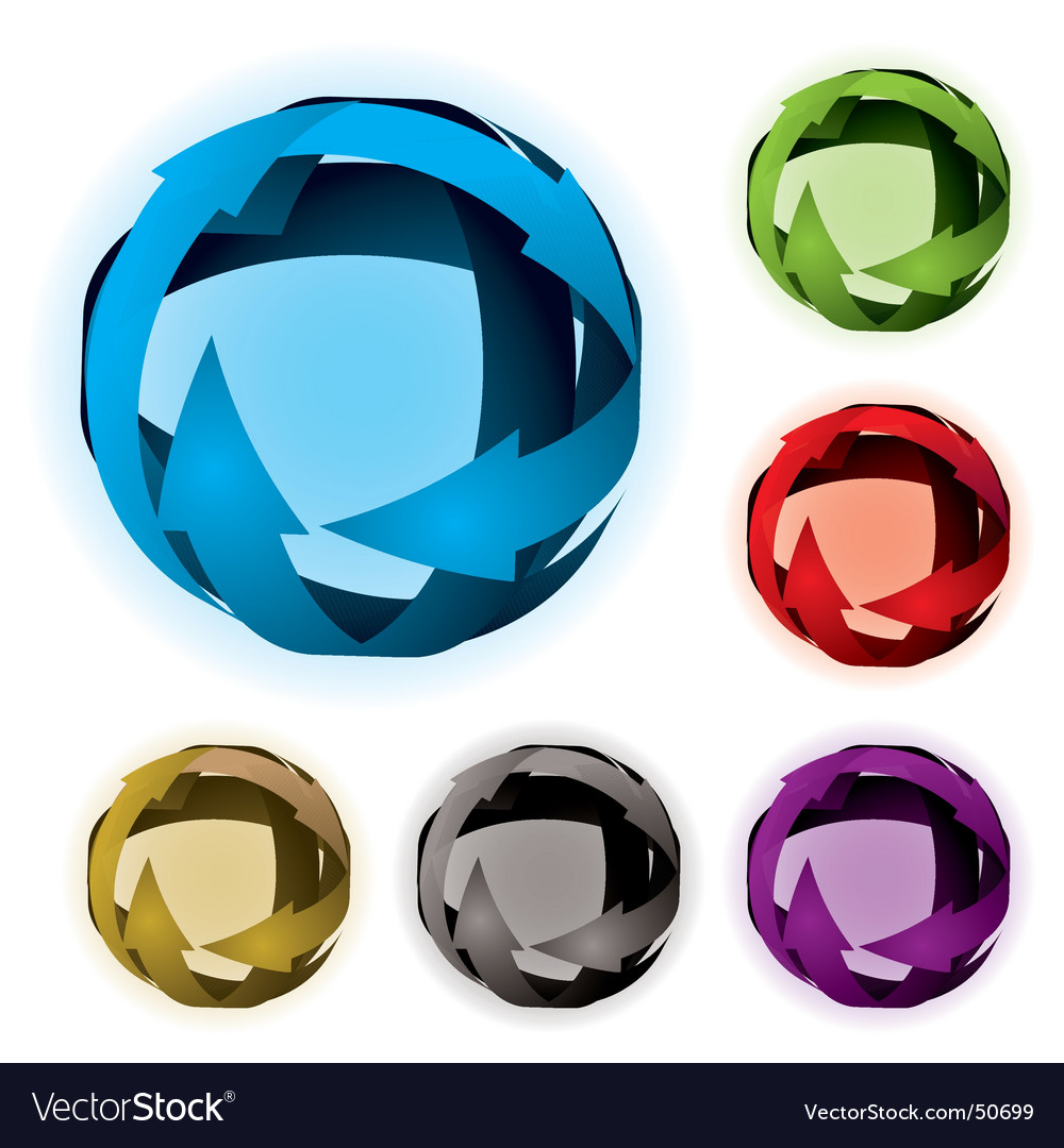 Variation arrow ball vector | Price: 1 Credit (USD $1)