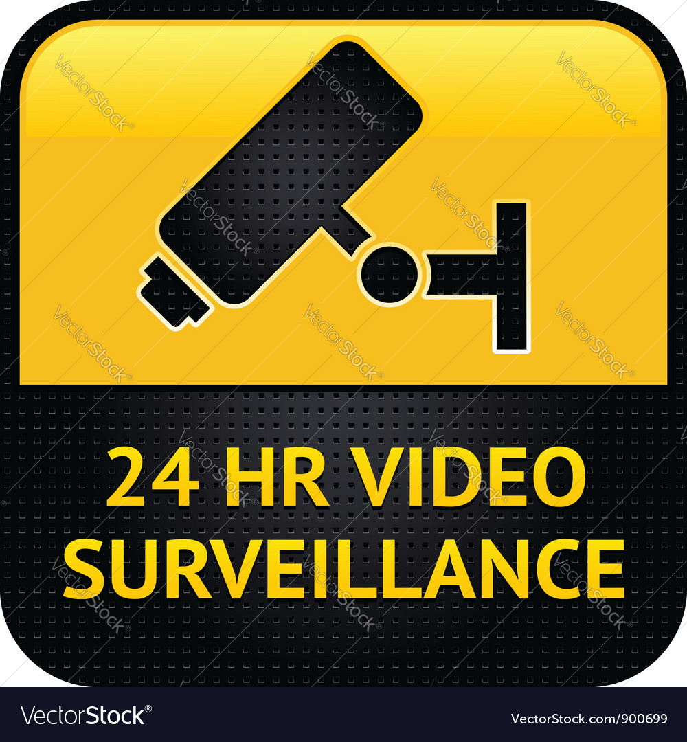 Video surveillance symbol punched metal surface vector | Price: 1 Credit (USD $1)
