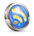 Rss feed news button vector