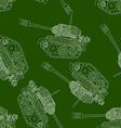 Tank seamless pattern 23 february vector