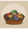 Fruitbasket vector
