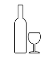 Bottle and glasse vector