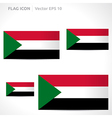 Sudan flag template vector