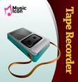 Music tape recorder vector