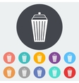 Basket single icon vector