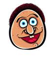 Happy cartoon face vector