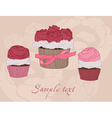 Beautiful cupcake card vector