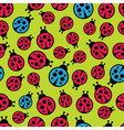 Ladybugs seamless background vector
