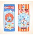 Vintage carnival banners vertical vector