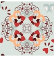Seamless background hearts pattern vector