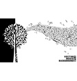 Music tree background vector
