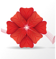 Red flower vector