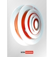 Circles abstract logo red and white vector