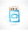 Matchbox grunge icon vector