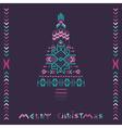 Christmas tree - tribal vintage aztec theme vector
