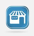 Shop building color square icon vector