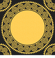 Seamless golden greek ornament meander vector
