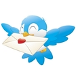 Bird carrying love letter vector