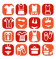 Color fashion clothes icons vector