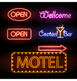 Set of neon sign vector