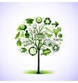 Ecological idea tree vector