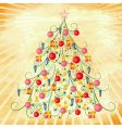 Christmas tree on grunge background vector