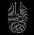 Fingerprint isolated on a black background vector