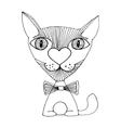 Cat love sketch vector