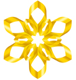 Flowers ribbon vector