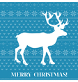 Christmas card - scandinavian knit style vector