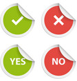 Stickers with consent and denial on white vector