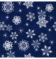 Seamless snowflakes background vector