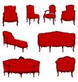Authentic rococo armchairs vector
