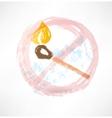 Ban matches grunge icon vector
